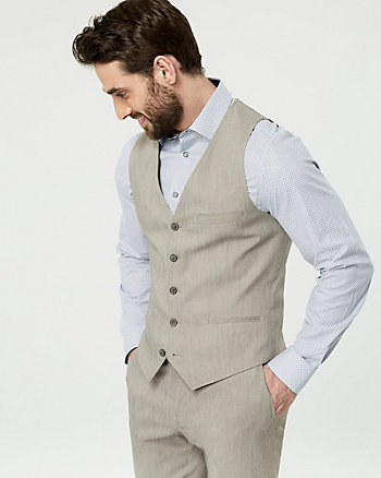Cotton Blend Twill City Fit Vest