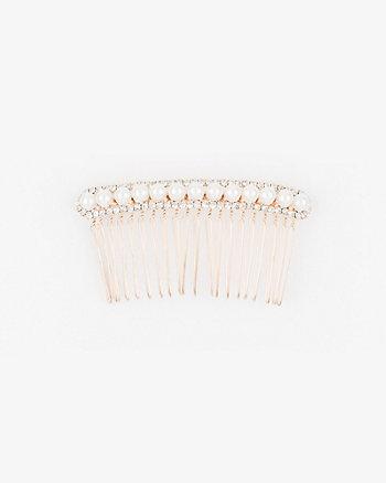 Gem & Pearl-like Hair Comb