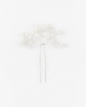 Flower Pearl-Like Bobby Pin