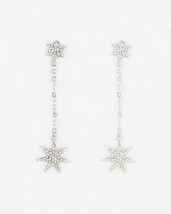 Star Gem Drop Earrings