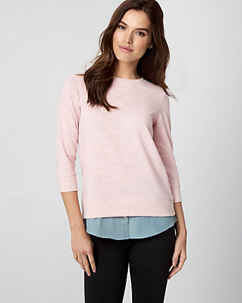 Cotton French Terry 2-in-1 Top