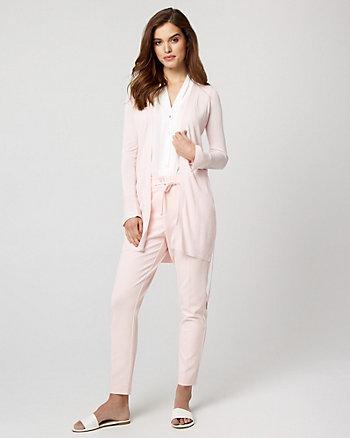Cotton Blend Belted Cardigan