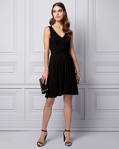 7fdbc24603 Knit V-Neck Cocktail Dress | LE CHÂTEAU