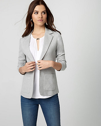 Ponte Notch Collar Blazer