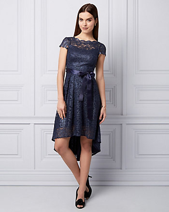 Lace High-Low Cocktail Dress