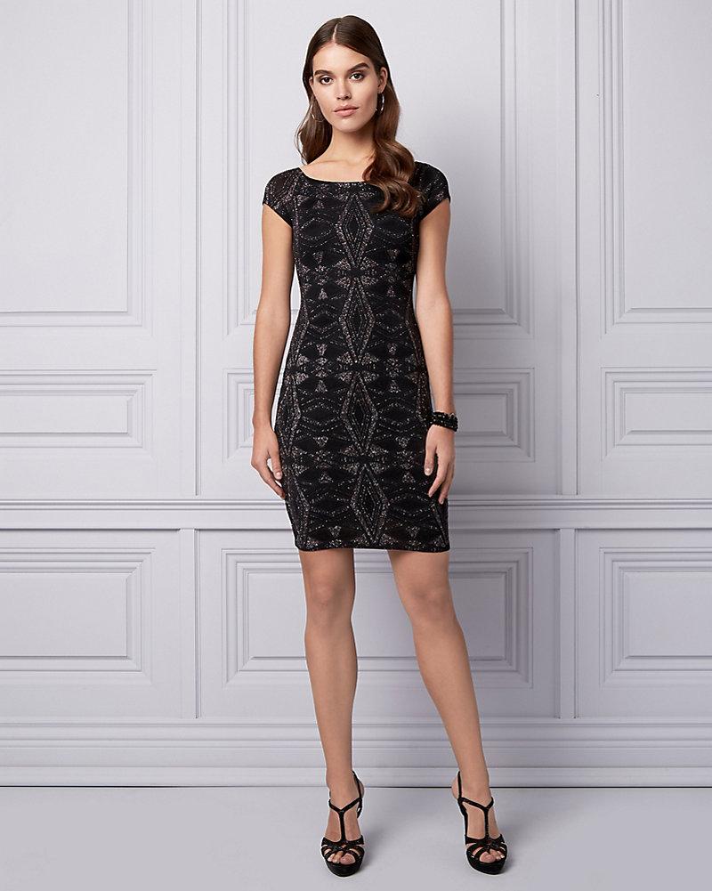 48e765a5e4 Sparkle Knit Off-the-Shoulder Dress