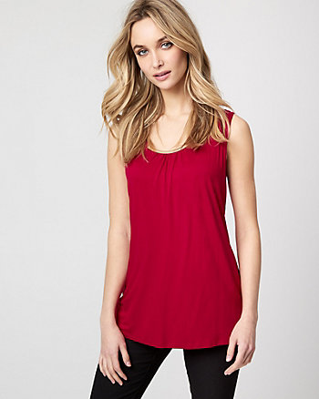 Viscose Blend Scoop Neck Top
