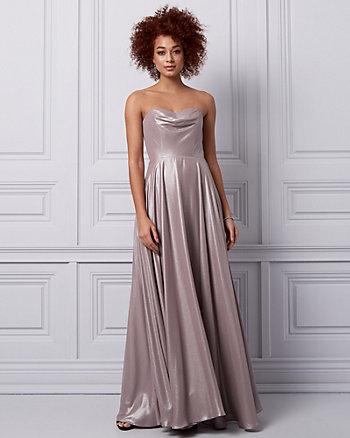 Foil Chiffon Sweetheart Gown