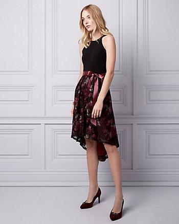 Embroidered Knit Halter Dress