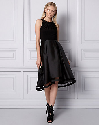 Satin High-Low Cocktail Dress