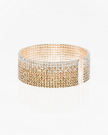 Ombré Gem Open Cuff Bracelet