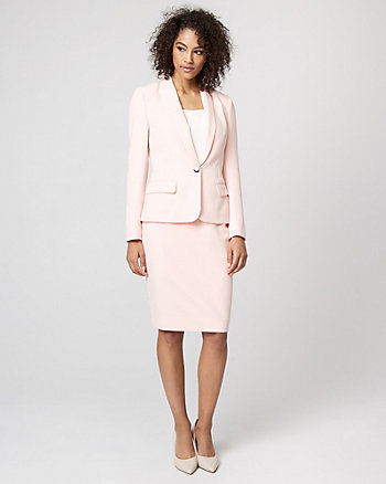 Double Weave Shawl Collar Blazer