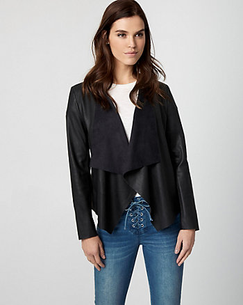 Leather-Like Waterfall Jacket