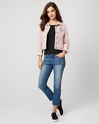 Garment Dye Cotton Blend Jacket