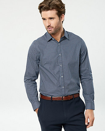 Novelty Print Cotton Slim Fit Shirt