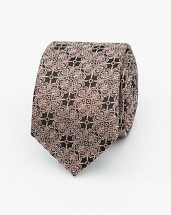 Metallic Knit Skinny Tie