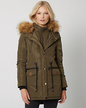 Faux Fur Anorak Puffer Coat