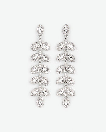 Gem Leaf Drop Earrings