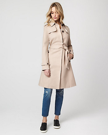 Viscose Blend Trench Coat