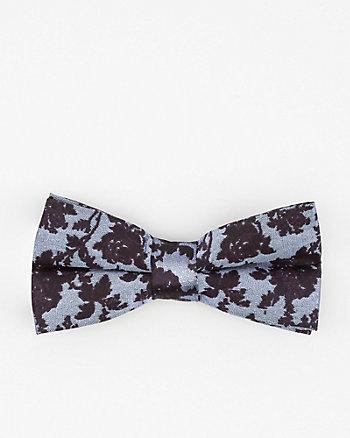Floral Print Silk Bow Tie