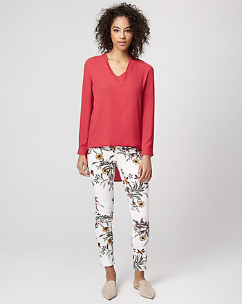 Crêpe de Chine High-Low Blouse