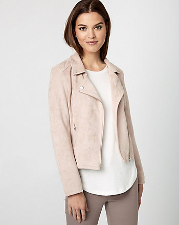 Faux Suede Asymmetrical Jacket