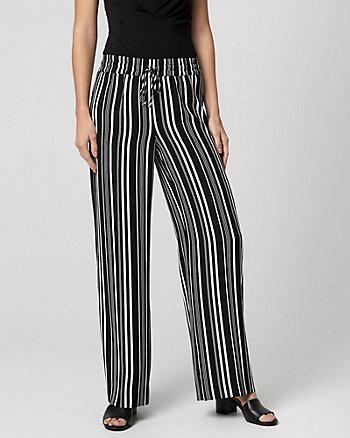 Stripe Crêpe Wide Leg Pant