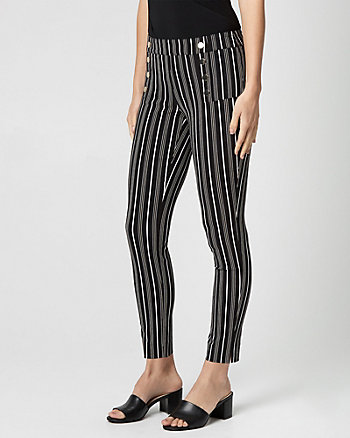 Stripe Tech Stretch Skinny Leg Pant
