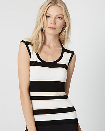 Stripe Viscose Blend Sweater Tank