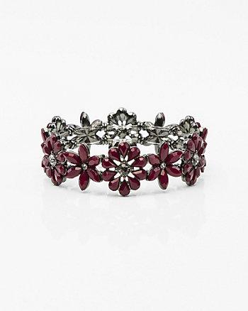 Floral Gem Stretch Bracelet