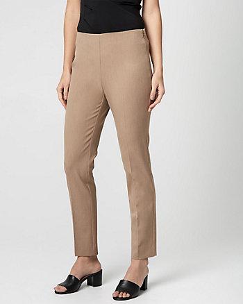 Pantalon à jambe étroite en gabardine