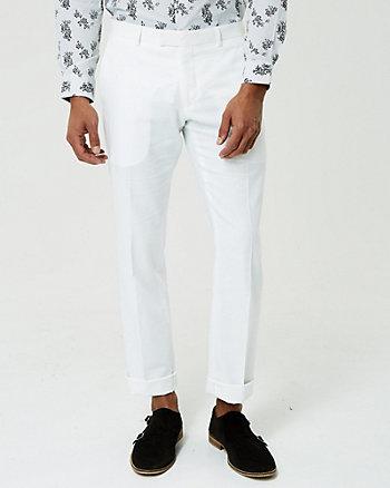Linen Blend Straight Leg Pant