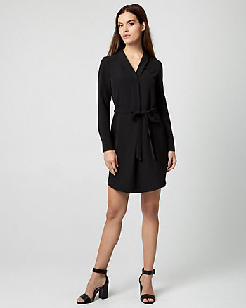 Built-Up Neck Shirtdress
