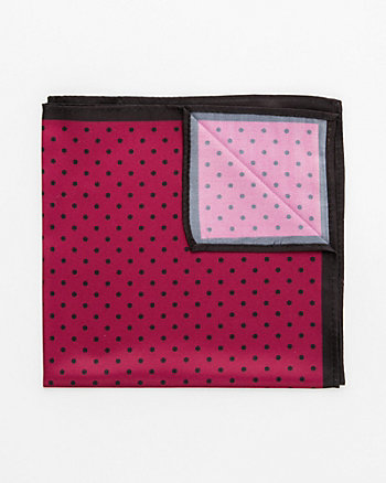 Dot Print Microfibre Pocket Square