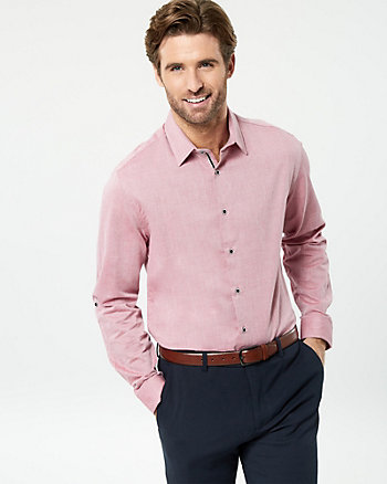 Cotton Piqué Tailored Fit Shirt