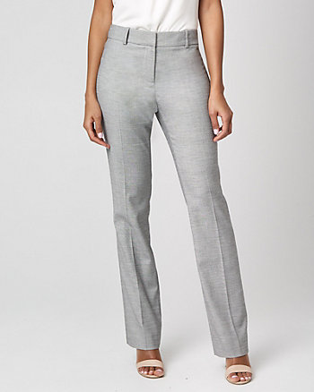 Birdseye Viscose Blend Slight Flare Leg Pant