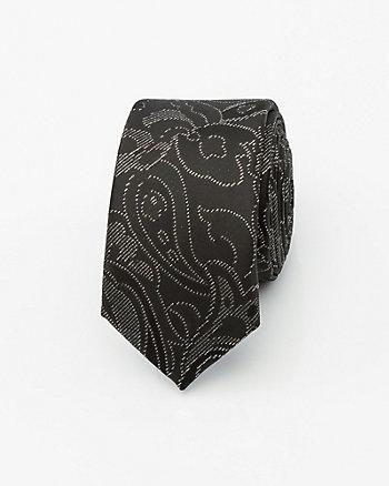 Metallic Microfibre Skinny Tie