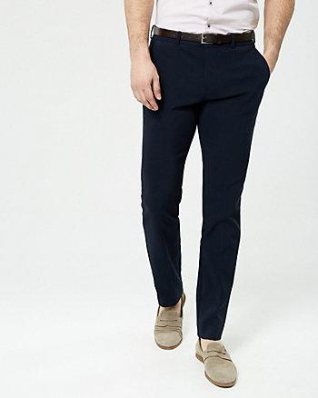 Cotton Blend Slim Leg Pant with Belt