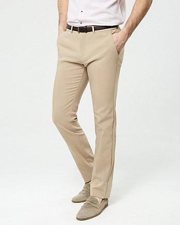 Pantalon en mélange de coton avec ceinture
