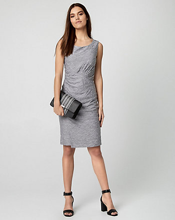 Knit Wrap-Like Dress