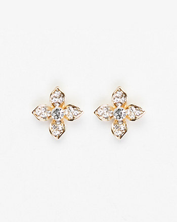 Floral Gem Stud Earrings