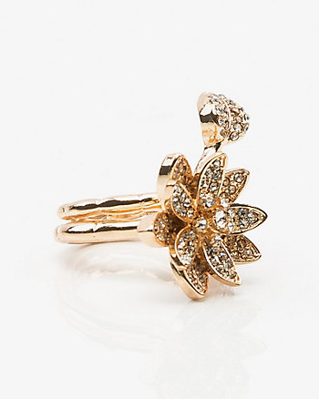 2-in-1 Floral Gem Ring