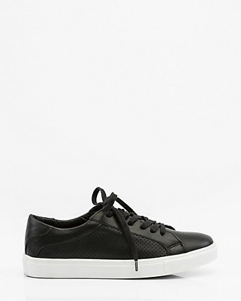 Perforated Leather Lace-Up Sneaker