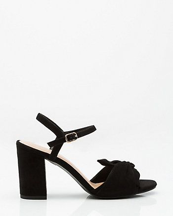 Knotted Block Heel Sandal