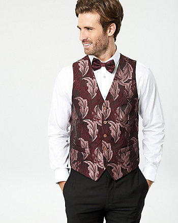 Jacquard Contemporary Fit Vest