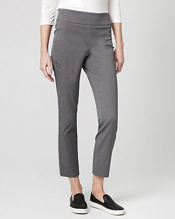 Birdseye Cotton Blend Slim Leg Pant