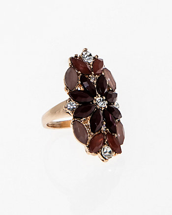 Adjustable Multi-Gem Ring