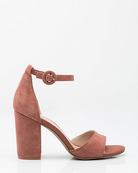 39b0a0c5497 LE CHÂTEAU: Suede Ankle Strap Sandal