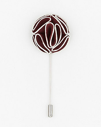 Two-Tone Floral Lapel Pin