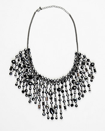 Firepolish Gem Bib Necklace